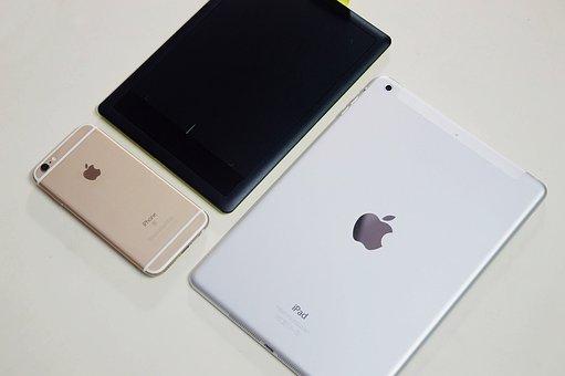計算されました, アップル, Ipadの空気, Iphone