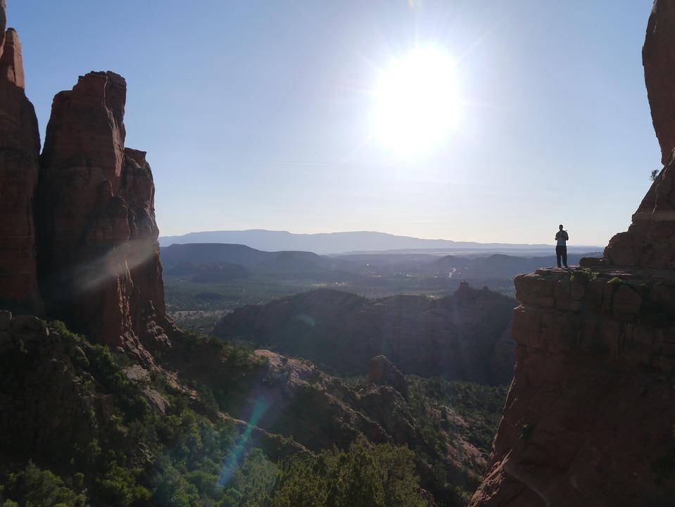 セドナ, 自然, パワースポット, ボルテックス, 太陽, 自分, 岩山