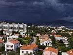 storm, squall line, dark