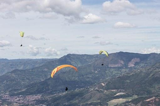 Paragliding, Colombia, City, Adventure