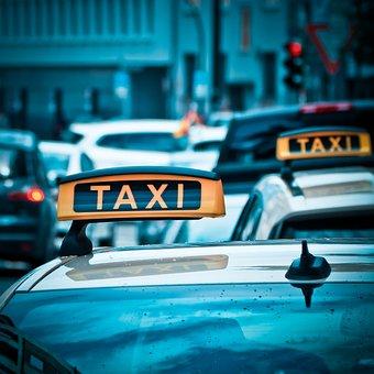 タクシー, 自動, 道路, ドライブ, シールド, トラフィック