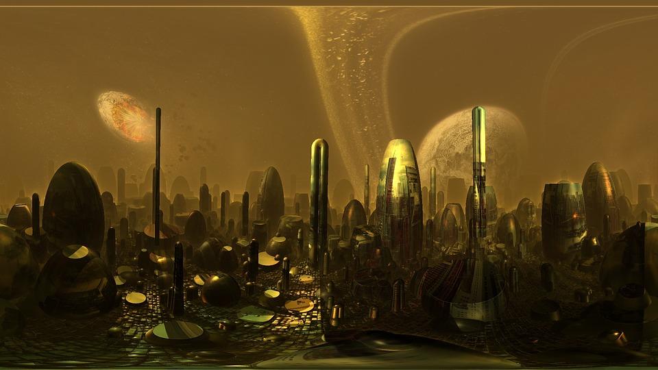 Sci Fi City 3d Model Free