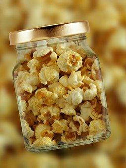 Popcorn Glass Lid Corn Corn Kernels P