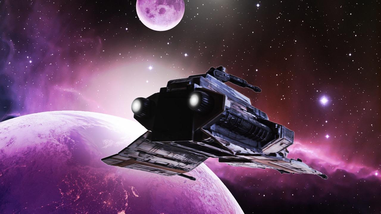 宇宙船, スペース, 地球, 宇宙, コスモス, 満天の星空, スペースシャトル, フォワード, スター