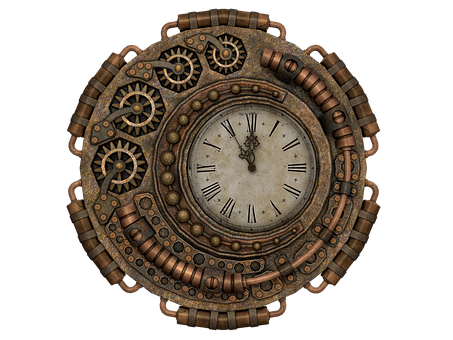 Clock, Time, Time Of, Fantasy, Steampunk