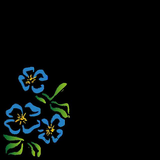 Line Art Flower Corner : Flowers corner flower nature · free vector graphic on pixabay