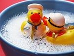 bath, splashing, ducks