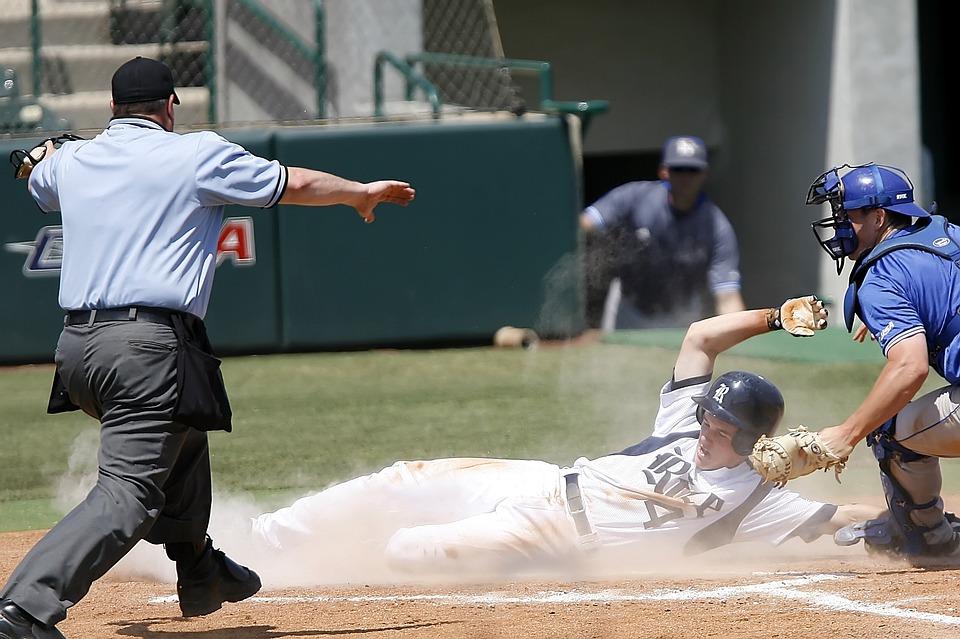 野球, スライド, ランナー, 得点, スポーツ, ゲーム, チーム, 競争, アクティビティ, 野球選手