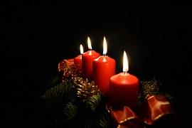 Avent, Bougies, La Lumière, Noël