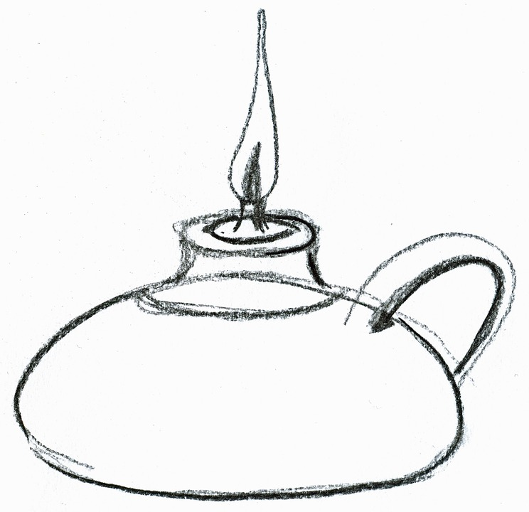 oil lamp drawing. oil lamp light atmosphere drawing t
