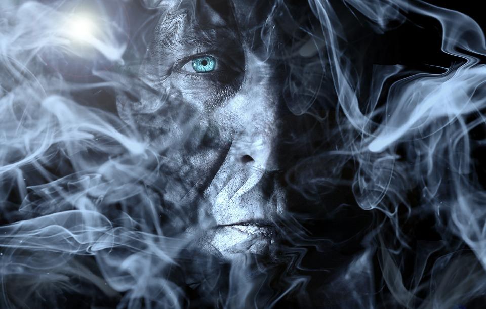 Man Smoke Fog Processing Wallpaper Imagination