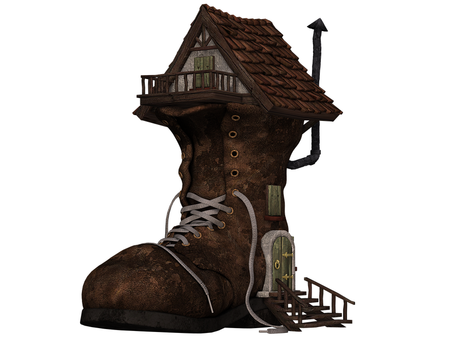 Free Illustration Shoe Boots Home Boots House