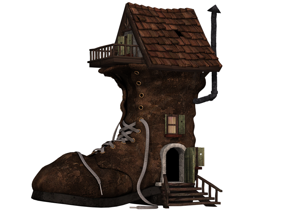 Free Illustration Shoe Boots Home Boots House Free