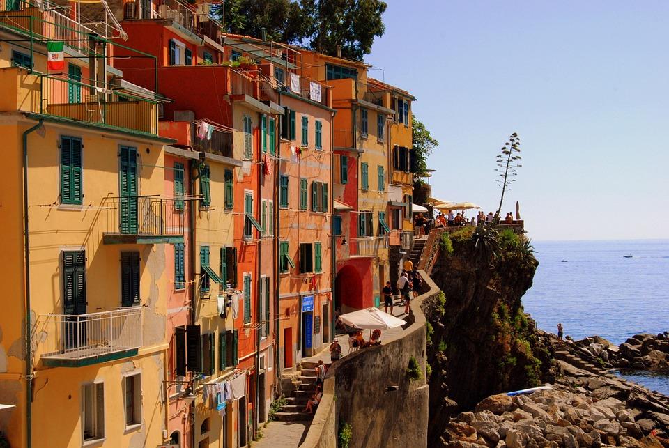 Case, Cinque Terre, Vernazza, Liguria, Acqua, Mare