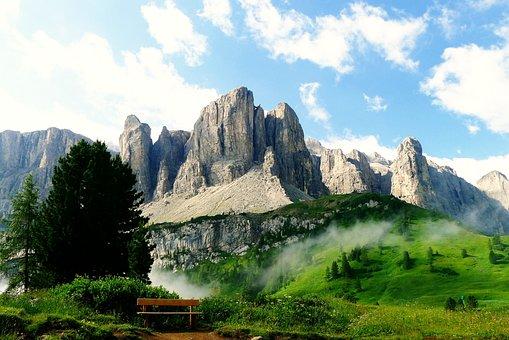Fjell, Sør Tyrol, Dolomittene, Alpine