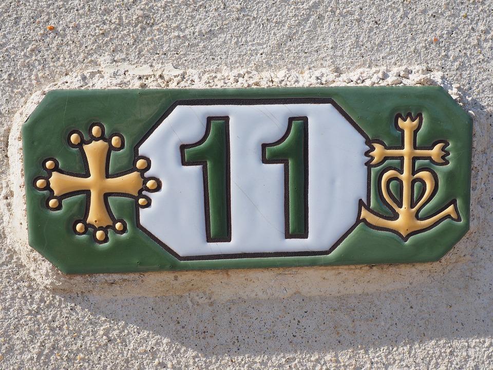 Hausnummer, Борд, Плочки, Брой, 11, Номериране, Цифри