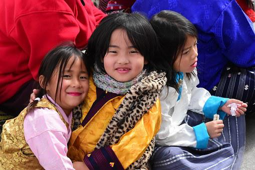 Children, Playing, Bhutan, Fun, Happy