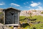 outhouse, wood, toilet