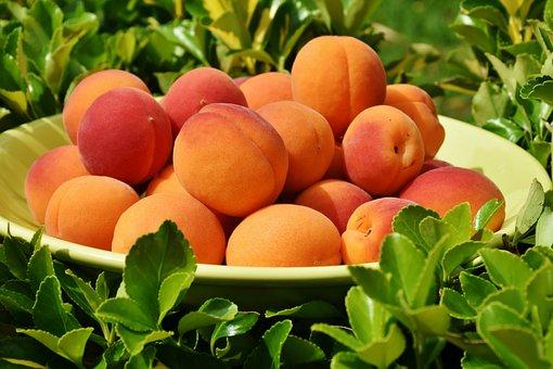 桃, 果物, 丼鉢, フルーツボウル, 新鮮な, 収穫, 生産, オーガニック