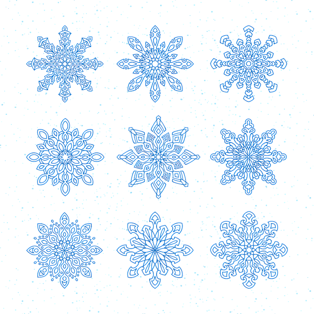 free vector graphic snowflakes vector new year 39 s eve. Black Bedroom Furniture Sets. Home Design Ideas