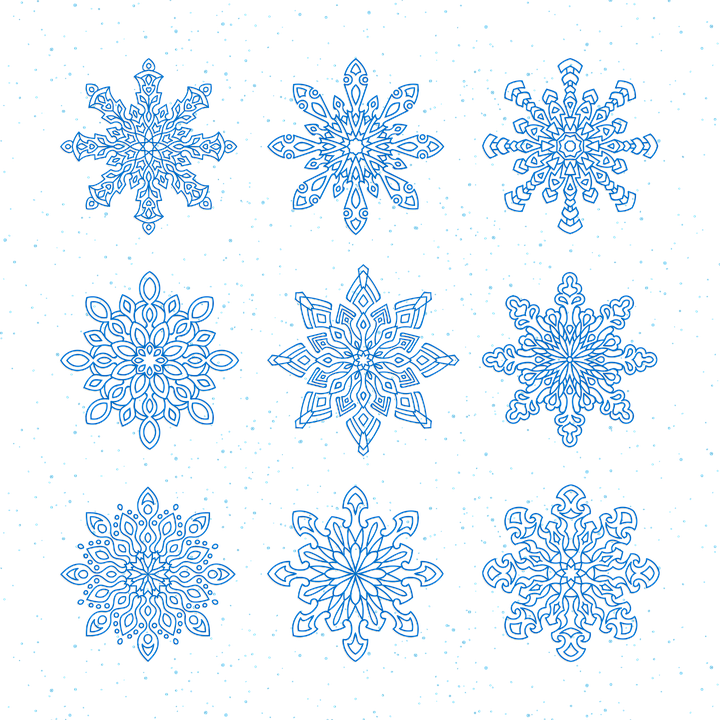snowflakes vector new years eve christmas holiday