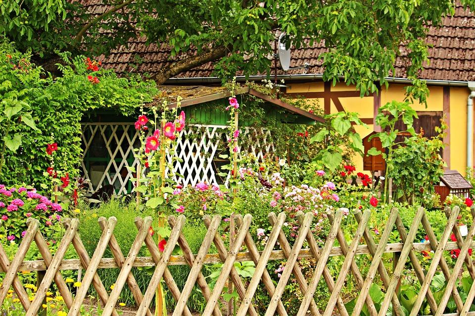 Garden, Cottage Garden, Fence