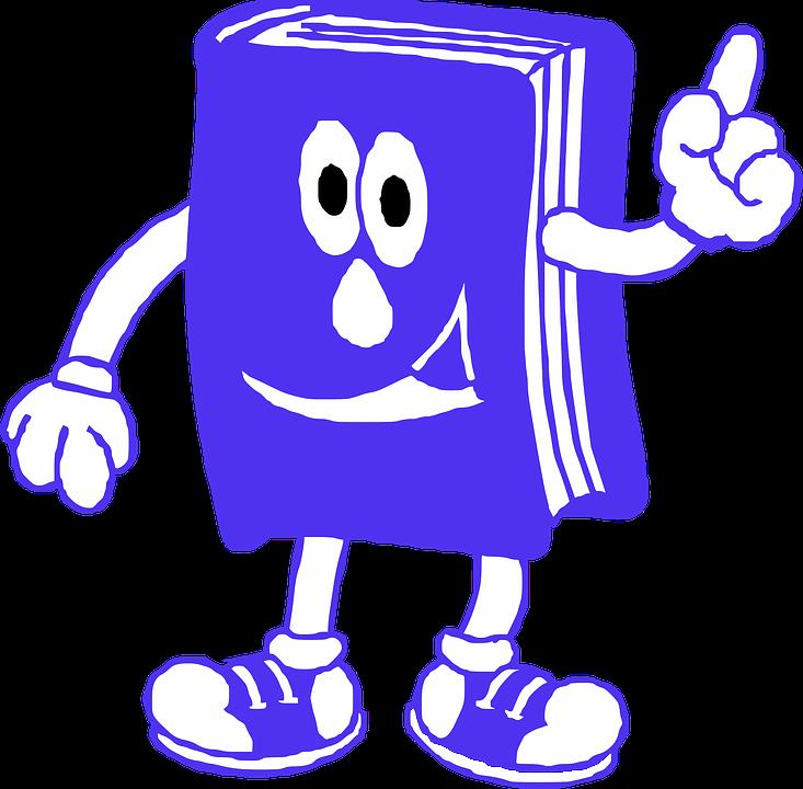 Buch, Lesung, Blau, Lächeln, Lesen, Lesebuch, Bildung