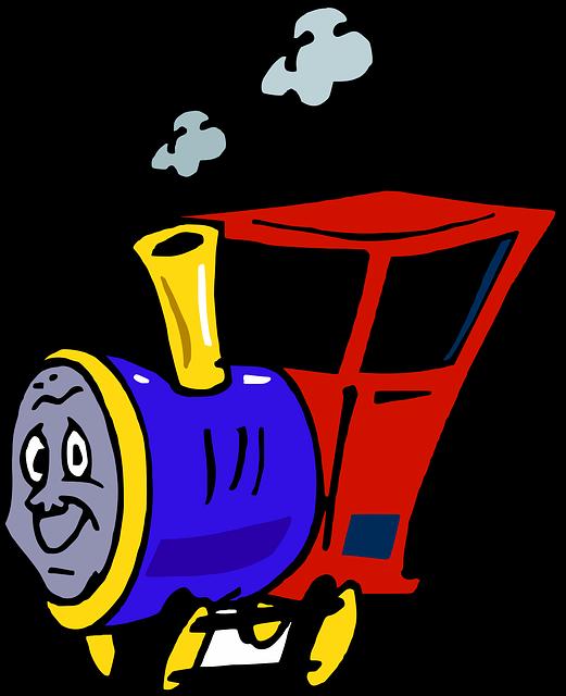 Free Vector Graphic Train Kids Engine Cartoon Free