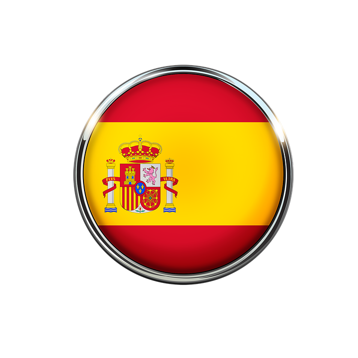 spain flag circle free image on pixabay rh pixabay com spain flag emblem coloring page spain flag logo printable