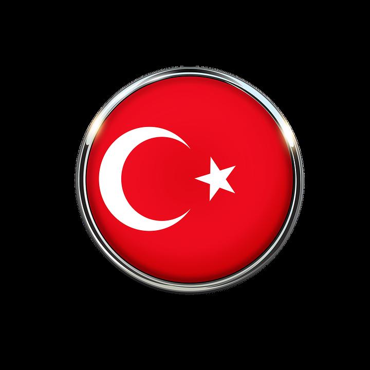Turkey Flag Circle Wallpaper Red White