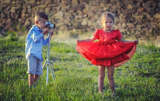 Moda, Stwarzających, Dzieci, Rodzeństwo