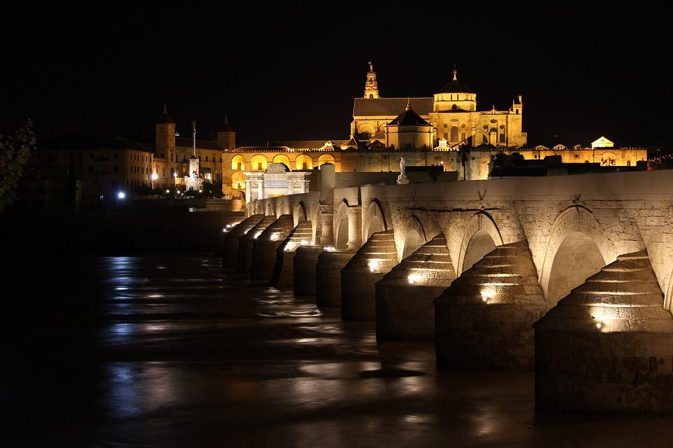 Cordoba, Spain, Bridge, Roman, Andalusia, Water