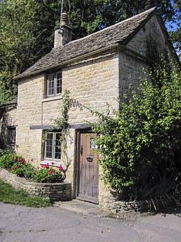 Cottage, Bibury, England, Village