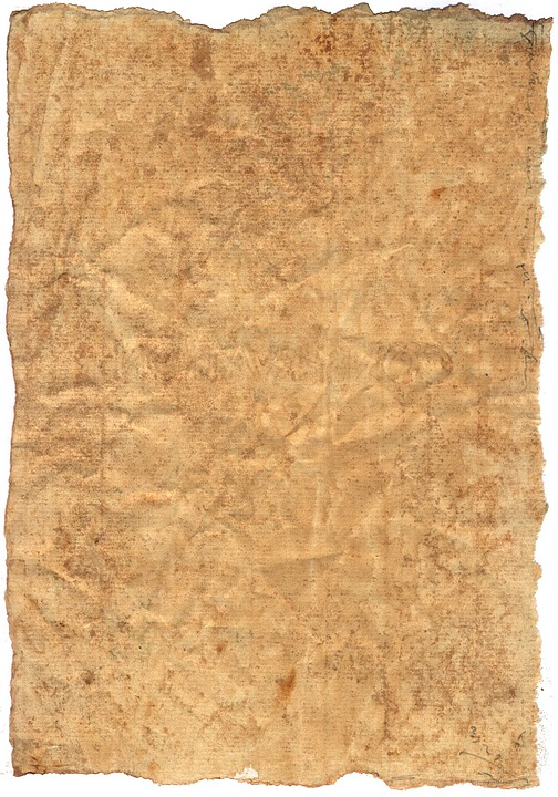 free illustration parchment paper old background
