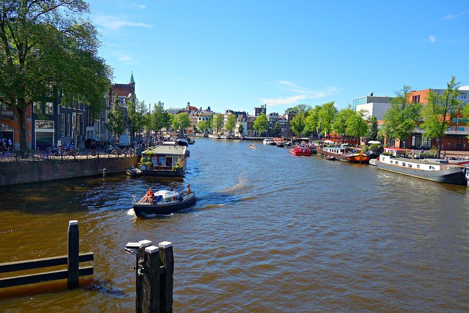 Amsterdam Amstel River City Center - Free photo on Pixabay