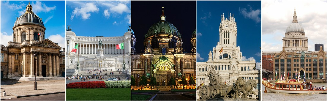Principales destinos de Europa