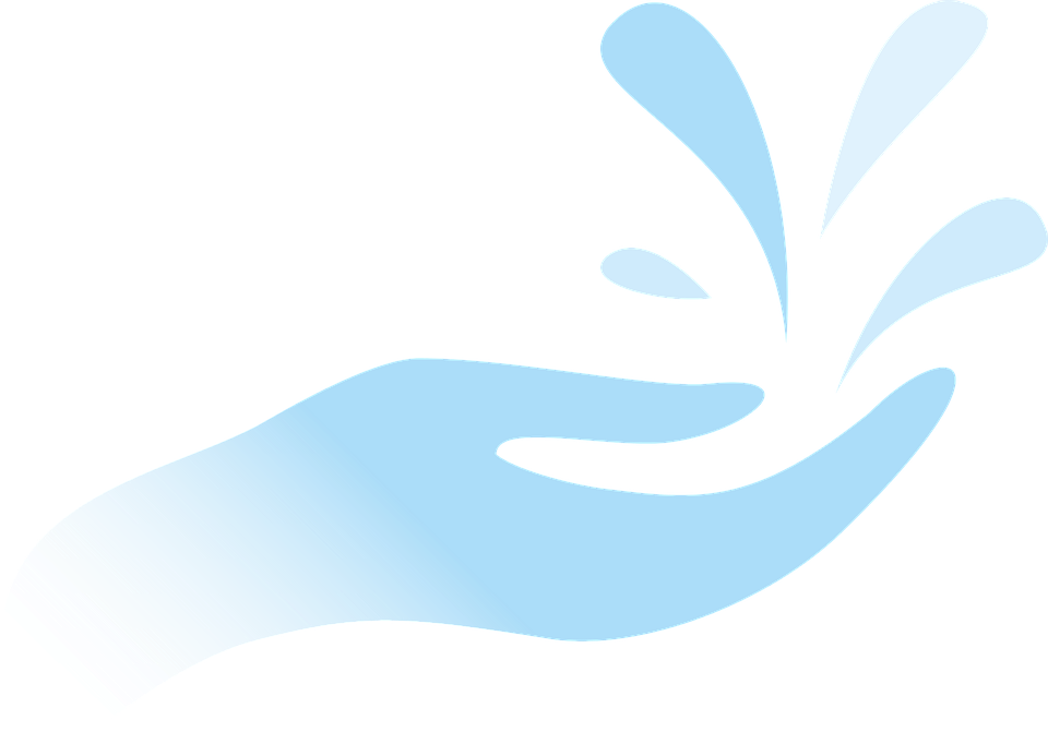 Free vector graphic: Hand, Drops, Water, Stylized, Blue ...