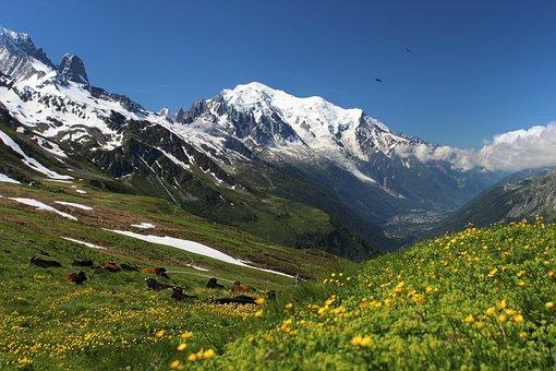 Mont Blanc, Tour Mont Blanc, Alps