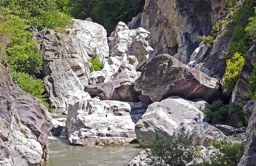 Gorge, Rock, Riverbed, La Roya