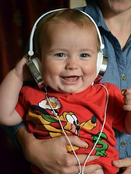 Child, Boy, Toddler, Music, Laughing