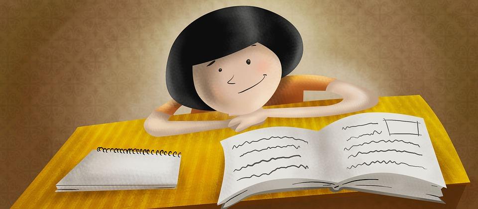 子, 研究, 少年, 証拠, 学習, 学生, 笑みを浮かべてください, 文学, 勉強
