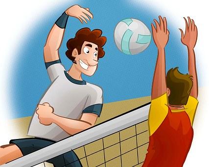 Sport, Volley-Ball, Homme, Réseau