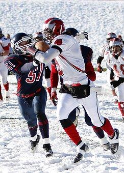 American Football, Running Back, Snow
