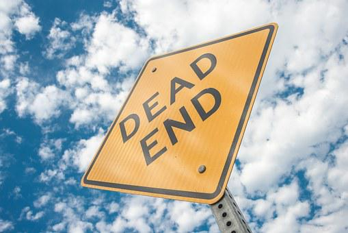 Dead End, Sign, Cul-De-Sac, Hopeless