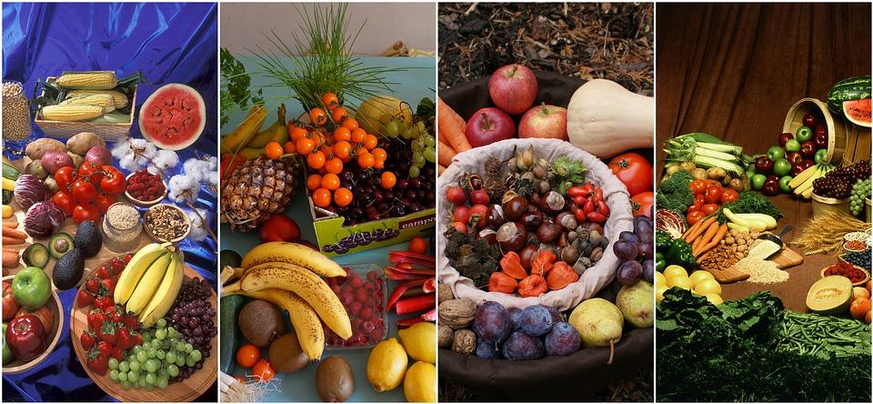 Verdure, Collage, Cibo, Sano, Fresco, Dieta, Nutrizione