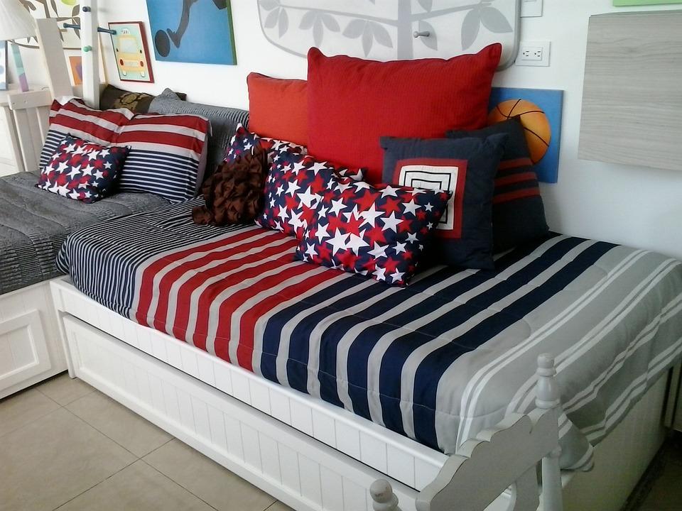 ベッド, マットレス, 枕, 顧問, 子供