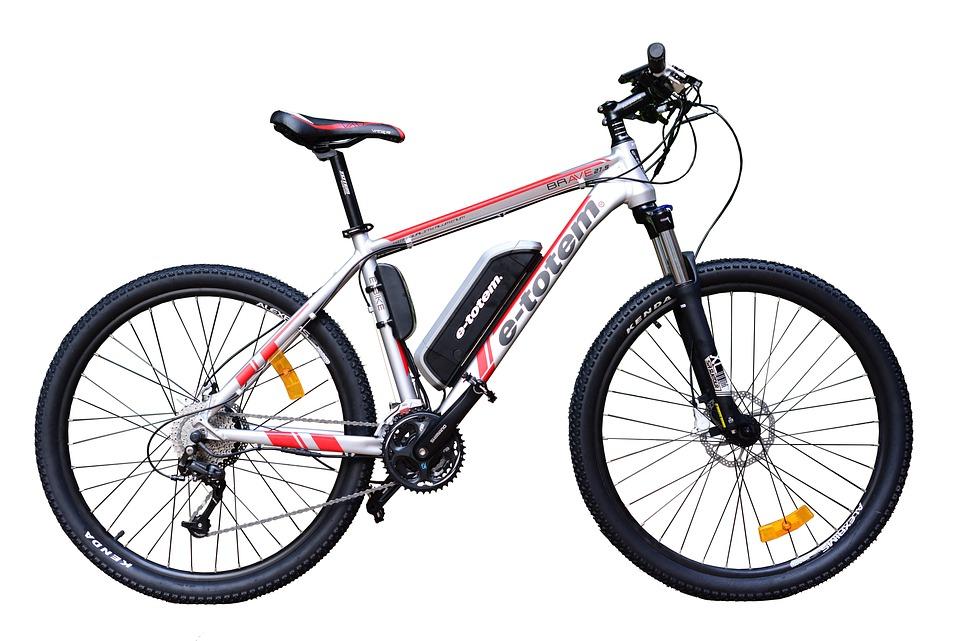 Mountainbike, Mtb, Elektrisch, Fahrrad, White