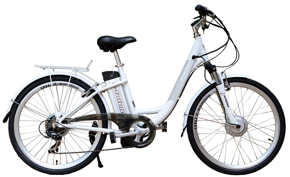 Electric, E-Bike, Bike, White, Background