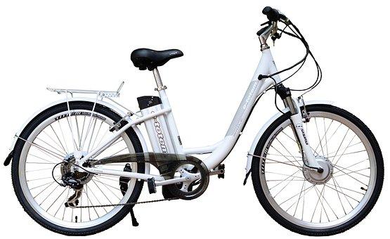 Elektrisch, E-Bike, Fahrrad, White