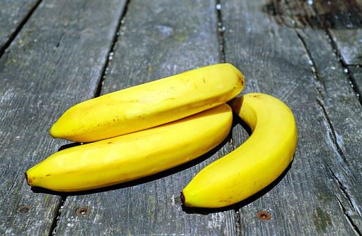 Bananas, Fruit, Fruits, Yellow, Vitamins